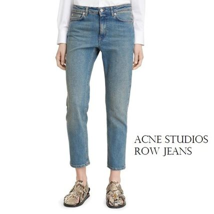 ACNE Row Cropped Jeansストレートクロップドハイウエストジーン