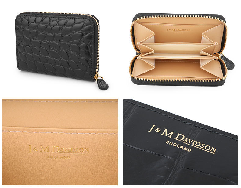 J&M DAVIDSON 5259 7267 SMALL ZIP PURSE ミニ財布 9990/BLACK