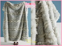 18AW☆最安値*関送込【Anthro】Chevron Faux-Fur Throw Blanket