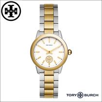 Tory Burch/トリーバーチ◆Collins GOLD/SILVER  32MM