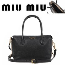 MiuMiu正規EMS送料込み/ 17FW 5BB020 2AJB NERO CAMME Shoulder