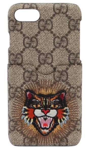 大人気!GUCCI ANGRY CAT PATCH IPHONE 7 CASE