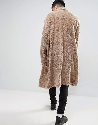 ○送料込○ASOS Extreme Oversized Borg Duster Coat In Beige