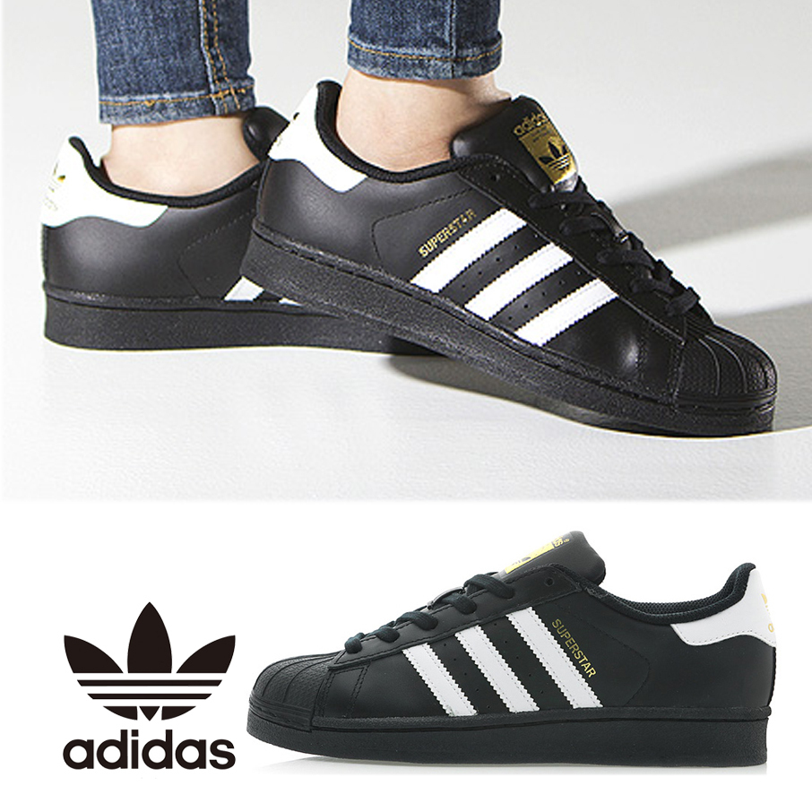 ADIDAS ☆ SUPERSTAR ☆ B23642 ☆ BLACK ☆ ス ニ ー カ ー