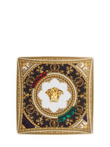 VERSACE BAROQUE AND ROLL SQUARE DISH【送料・関税込】15cm