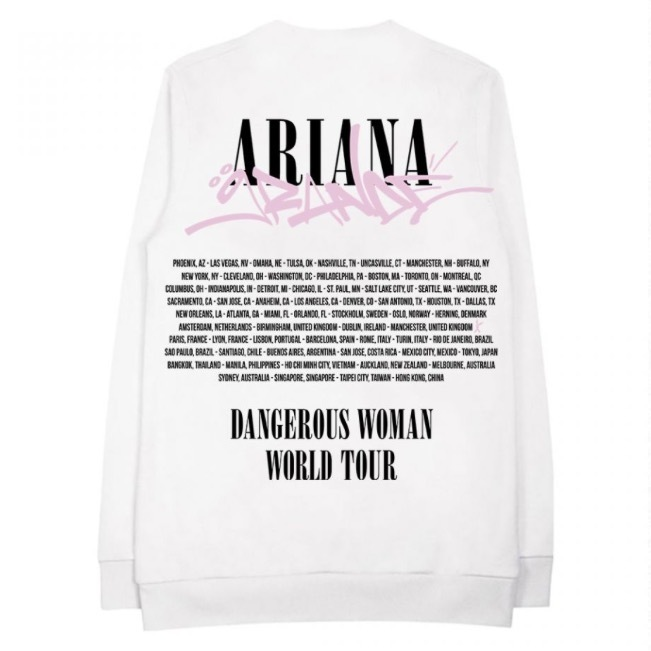 アリアナグランデ♡Dangerous woman tag white crewneck