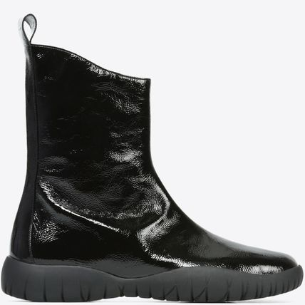 17-18AW MMF120 PATENT LEATHER SCUBA TABI BOOTS