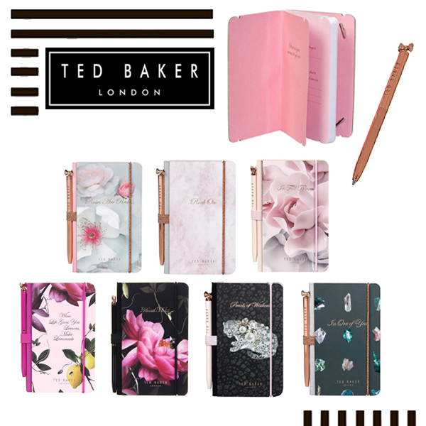 【TED BAKER】A7ミニノート&ペンセット ギフトにも