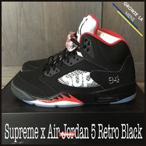 ★【Supreme x NIKE】US11 29cm Air Jordan 5 Retro Black