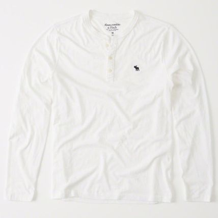 Abercrombie & Fitch Tシャツ・カットソー アバクロAbercrombie & Fitch ベーシック ヘンリー長袖Tシャツ(2)