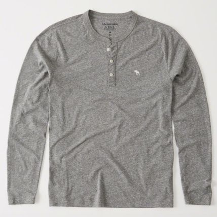 Abercrombie & Fitch Tシャツ・カットソー アバクロAbercrombie & Fitch ベーシック ヘンリー長袖Tシャツ(4)