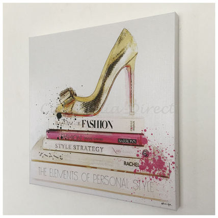 Oliver Gal アート・美術品 Oliver Gal Gold Shoe And Fashion Books 小さいサイズ 41x41cm (2)