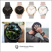 Christian Paul★腕時計 メンズ RAW BLACK/BLACK 43mm 他 全4色