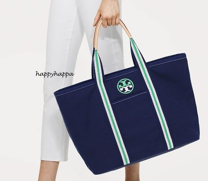 【Tory Burch】SALE!日本未入荷★EMBROIDERED-T LARGE TOTE青