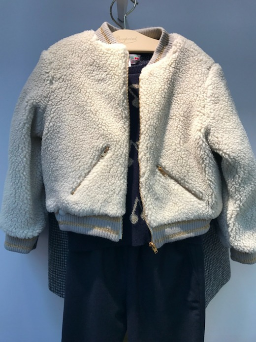 17AW【Bonpoint】Funny ジップブルゾン 3~4A