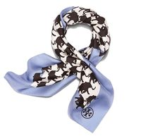 Tory Burch RUNNING-ELEPHANT SILK NECKERCHIEF
