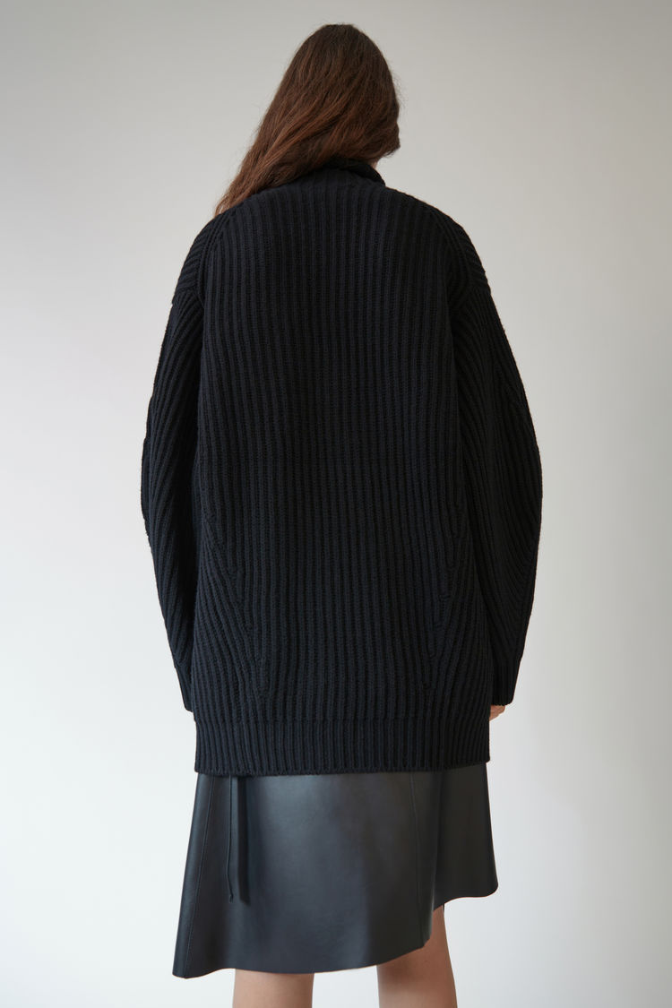 【17aw NEW】 Acne_women Isa wool/セーターブラック