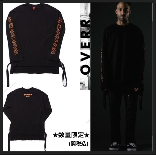 イベント中★OVERR TOME2 SIDE TAPING BLACK LONGSLEEVE TEE