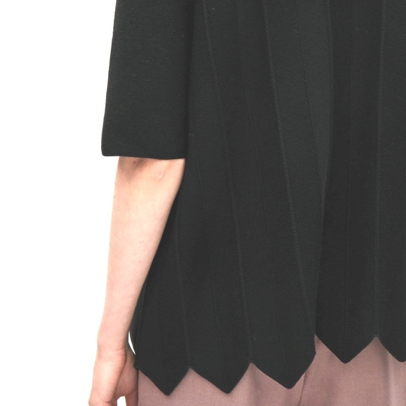 """""""COS""""KNITTED TOP WITH STATEMENT HEM BLACK"""