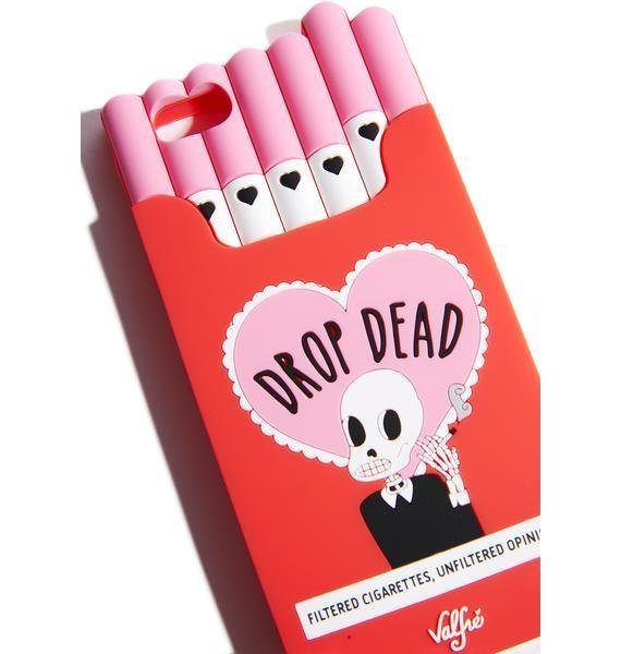 ☆日本未入荷☆17FW新作Valfre*DROP DEAD CIGARETTE IPHONE CASE