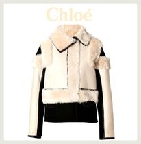 Chloe(クロエ)★Lambskin Leather Zip Jacket in Natural★