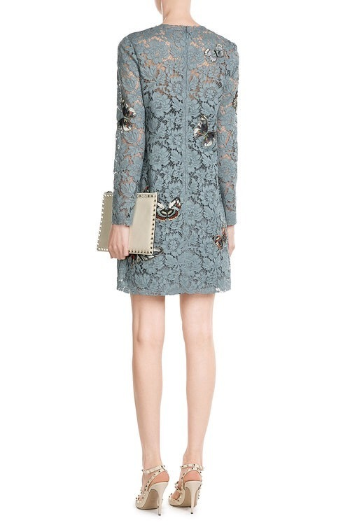 VALENTINO(ヴァレンティノ)★Butterfly Embroidered Lace Dress