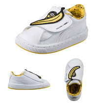 ミニオンズ MINIONS BASKET WRAP STATEMENT LEATHER SNEAKERS