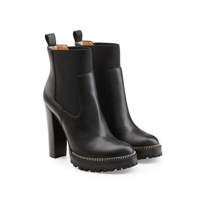 Sergio Rossi(セルジオロッシ)★Black Leather Ankle Boots