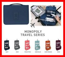 monopoly(モノポリー) トラベルポーチ 韓国【MONOPOLY】トイレタリーポーチ TOILETRY POUCH☆無地