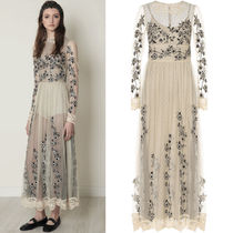 17-18AW RV080 LOOK33 FLORAL EMBROIDERED TULLE DRESS