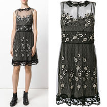 17-18AW RV083 FLORAL EMBROIDERED TULLE DRESS