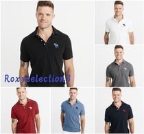 【Abercrombie&Fitch】BIG ICON STRETCH POLO ビッグロゴポロ