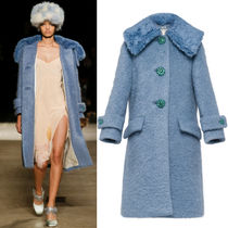 MM305 LOOK32 FELT BOUCLE COAT WITH DETACHABLE COLLAR