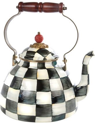 Courtly Check enamel tea kettle【送料・関税込】