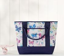 Pottery Barn Kids★トートバッグ<Gray Rainbow Butterfly>