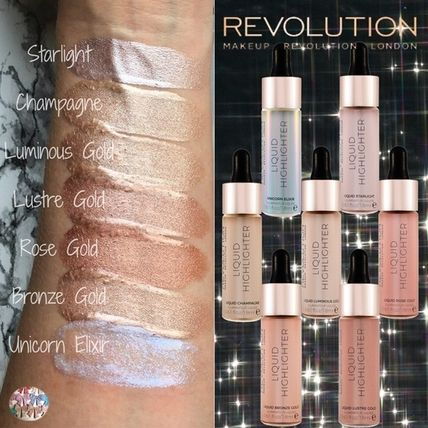 MAKEUP REVOLUTION ファンデーション MAKEUP REVOLUTION☆人気商品 リキット ハイライター 7色