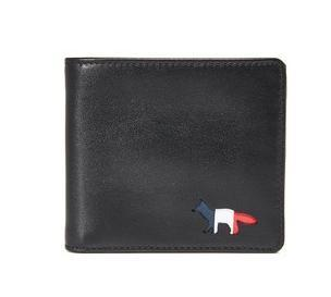 ラスト1点 Maison Kitsune Tricolor Fox Leather Wallet