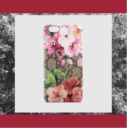 17秋冬 GUCCI グッチ Custodia per iPhone 6 GG Blooms ピンク
