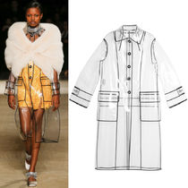 MM319 LOOK47 GROSGRAIN TRIMMED PVC RAINCOAT
