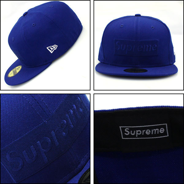 14AW Supreme Tonal Box Logo New Era Cap Blue 青