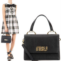MM328 LOGO EMBELLISHED MADRAS HANDBAG