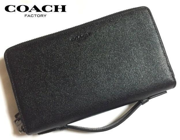 安心国内即発 COACH XGRAIN LEATHER DOUBLE ZIP 長財布 59114 BK