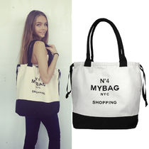 即納Bag-all  NY発 厚手キャンバスWorld Traveler Tote NYC
