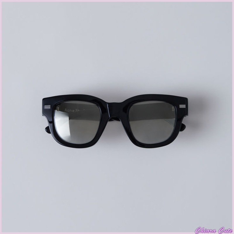 【17aw NEW】 Acne_women Frame metal/サングラス黒&シルバー