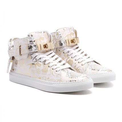 BUSCEMI WHITE AND GOLDEN 100MM スニーカー