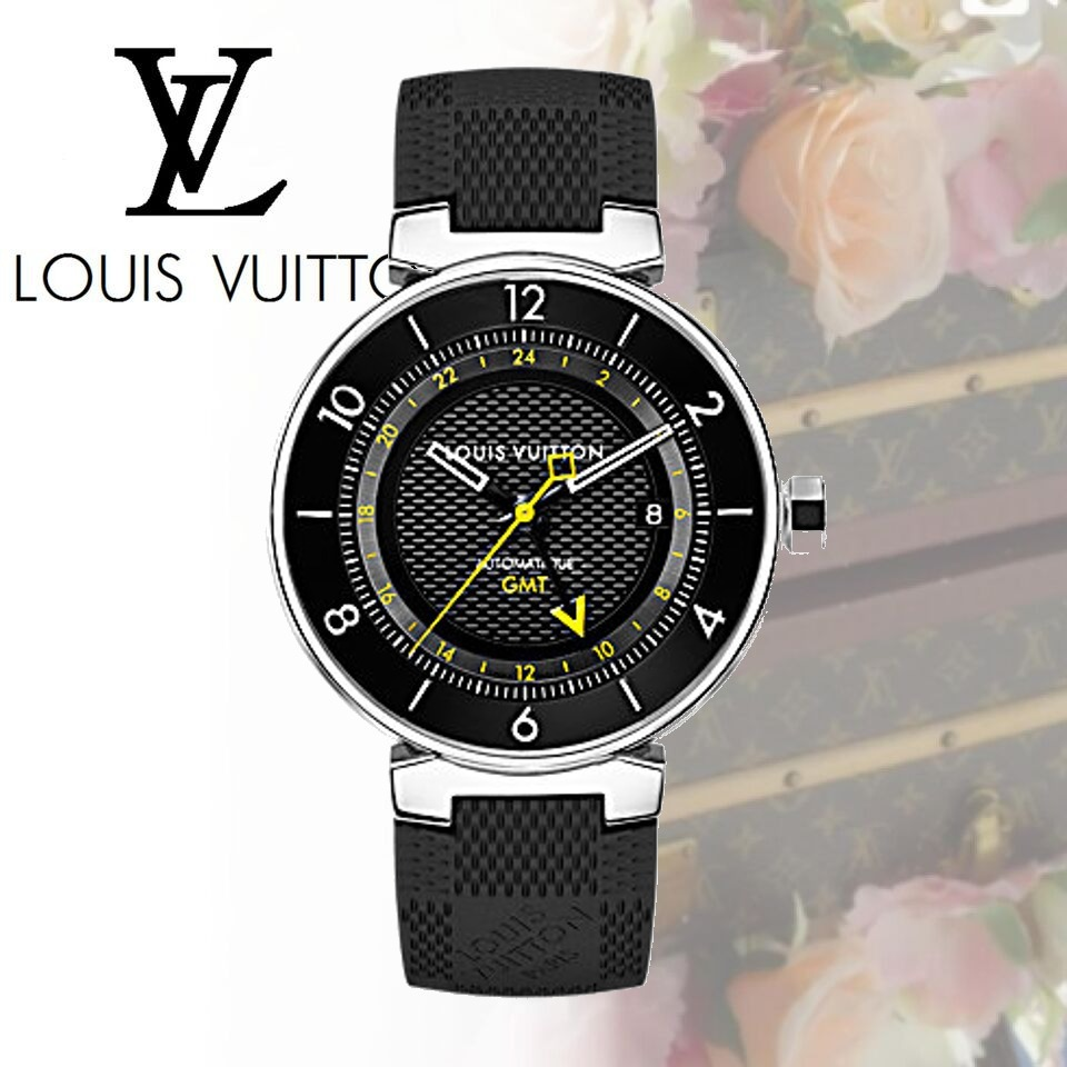 LOUIS VUITTON ルイヴィトン 腕時計 タンブール ムーン GMT 41.5