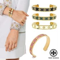 ♡TORY BURCH♡ENAMEL RAISED LOGO CUFF 関税/送料込