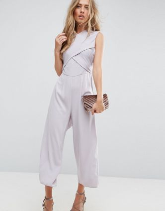 ASOS【送料無料】Jumpsuit with Wrap Front and Tie Back