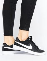 Nike Court Royale Trainers In Black And White