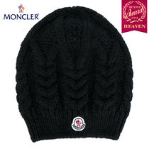 TOPセラー賞受賞!17/18秋冬┃MONCLER★CABLE KNIT HAT_ブラック